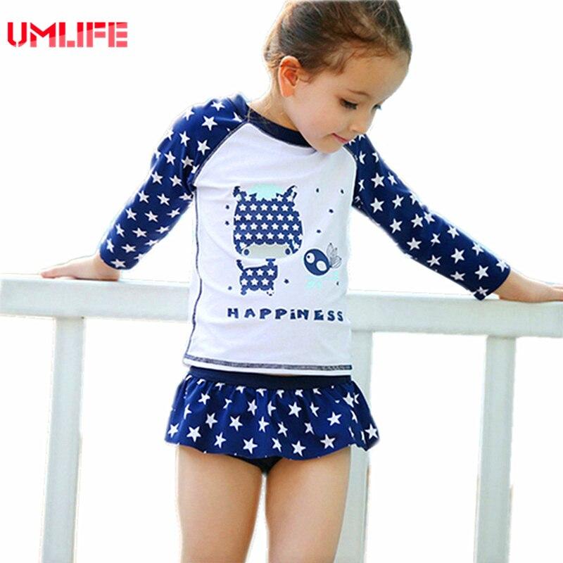 2017 ragazze costume da bagno per bambini a due pezzi costumi da bagno set capretti del