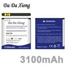 f6b9164664b Da Xiong 3100 mAh BA750 batería del teléfono del li-ion para Sony Ericsson  Xperia ARC s LT15i LT18i X12 etc