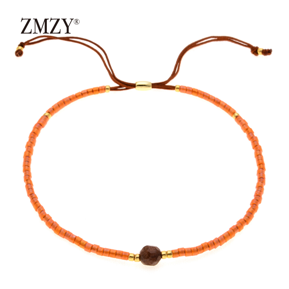 ZMZY Miyuki Delica, бисер, женские браслеты, ювелирные изделия дружбы, модные, сделай сам, Bijoux Femme, простые браслеты, Прямая поставка - Окраска металла: QSSL003-5