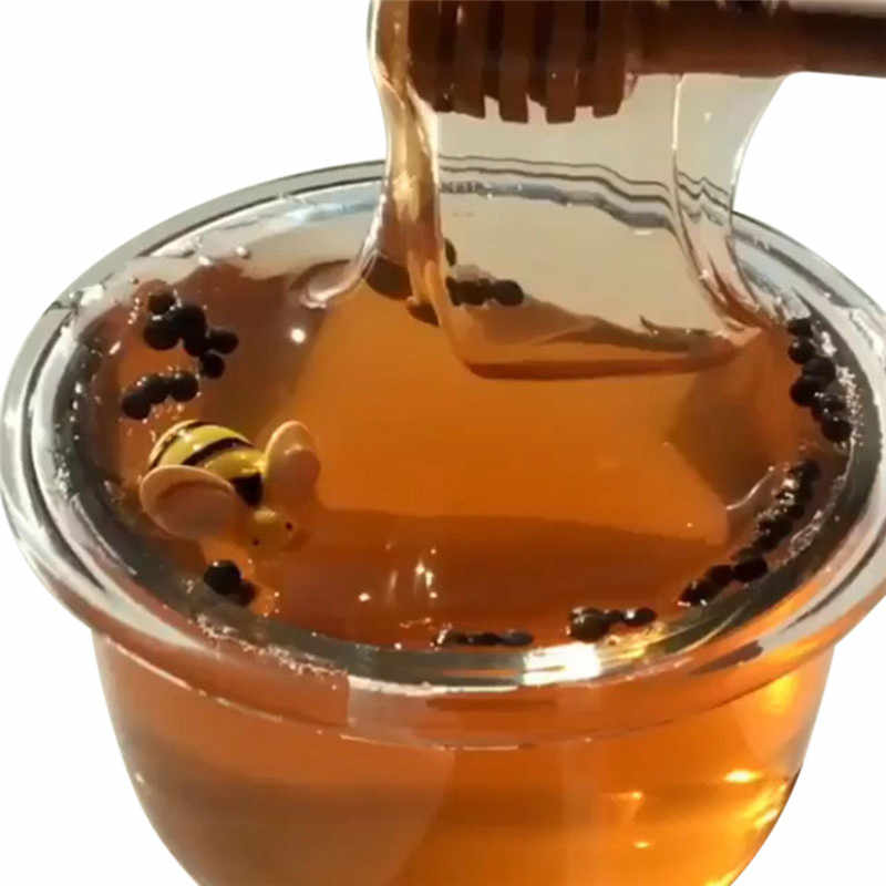60ML Transparent crystal mud honey bee slime mud Honeybee Mixing Cloud Slime Putty Clay Toy fluffy slime