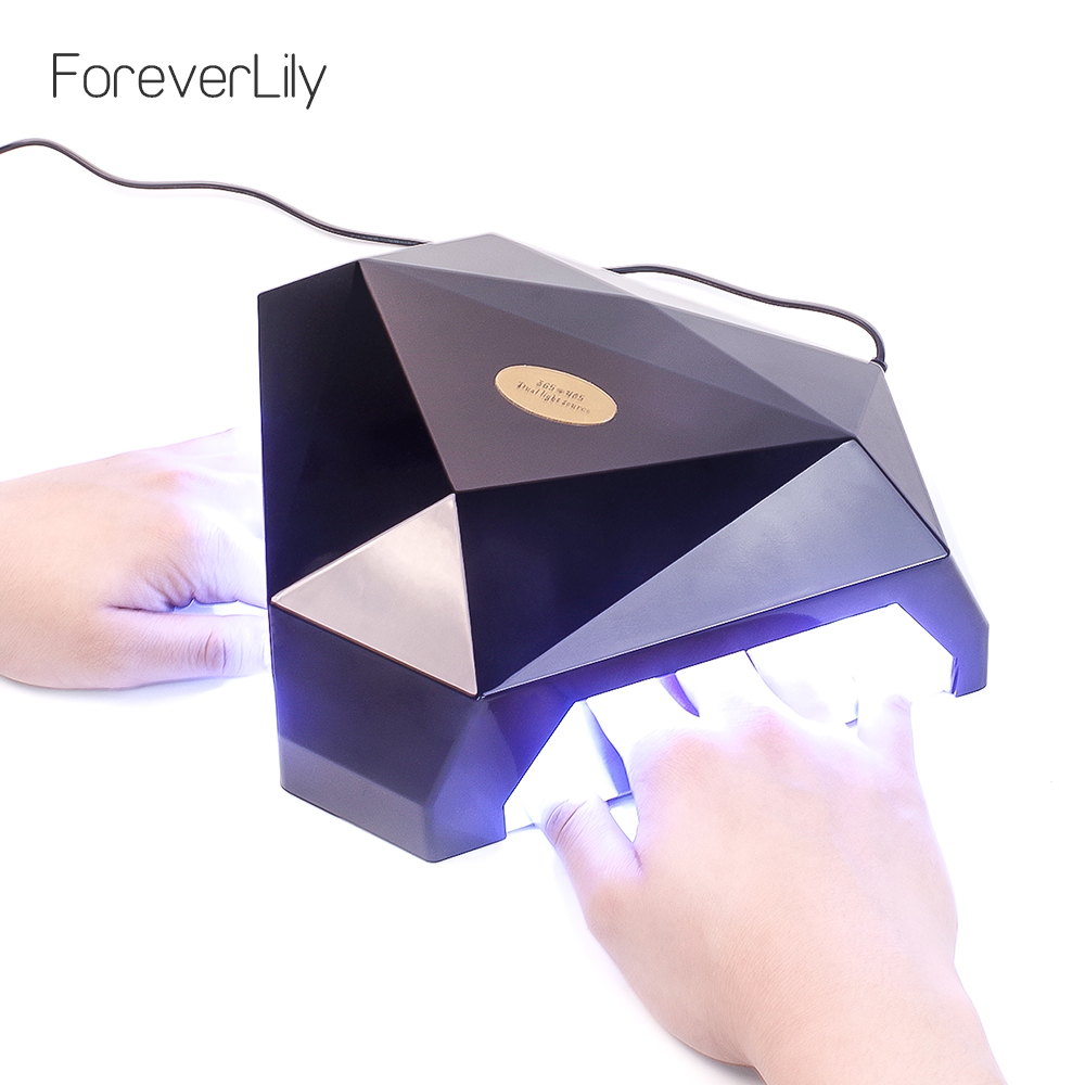 foreverlily 60W Two Hand Manicure Lamp Nail Dryer Gel Nail Lamp Nail Gel Polish Curing Machine