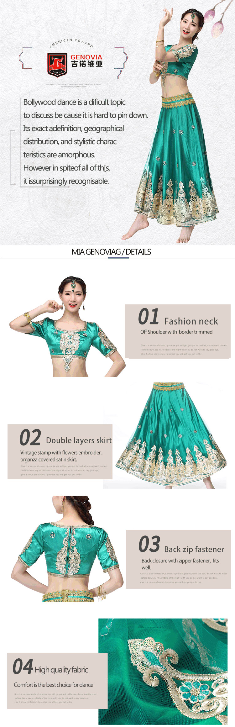 7487a47163 Indian Outfits Bollywood Traditional Dress Costumes 3pcs Set Top+ ...