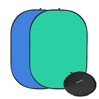 Neewer 2 in 1 Chromakey Green Chromakey Blue Collapsible Backdrop Collapsible Reversible Background 5x7 feet/1.5x2 meters
