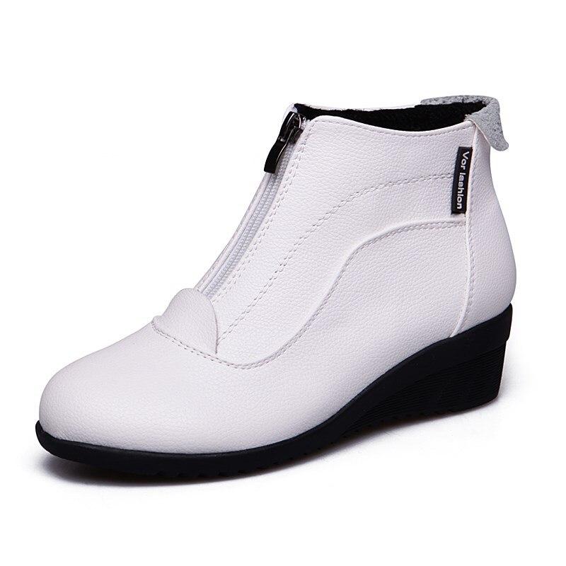 Winter Boots Women 2019 Women Snow Boots Wedge Heels Winter Shoes Women Warm Fur Casual Shoes Zip Women's Shoes Botas Mujer Shoes Women's Shoes