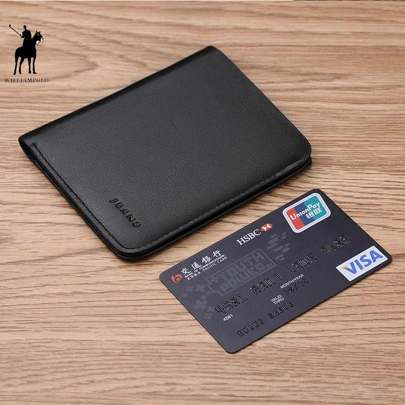 e3ce91915baf Williampolo Short Wallets For Men Genuine Leather Wallet Men Coin Pocket  Card Holder Purse Mini Small