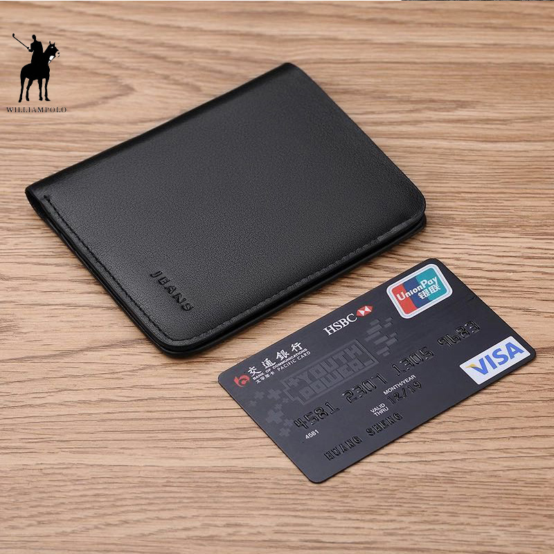 Williampolo Short Wallets For Men Genuine Leather W