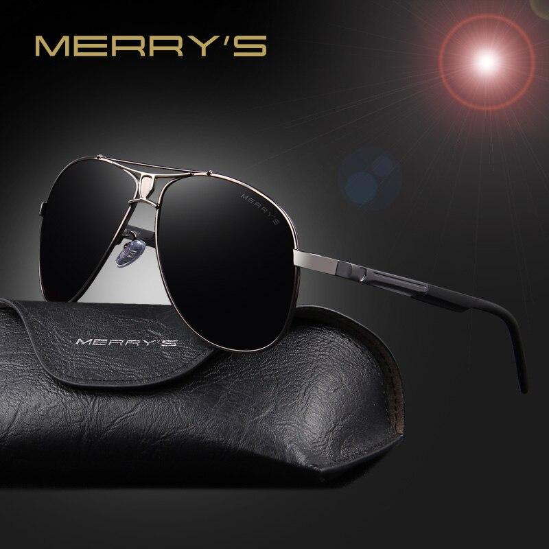 70fa8969fb7 MERRY S Men Classic Brand Sunglasses HD Polarized Aluminum Sunglasses  Luxury Shades Shield Series S 8086-in Sunglasses from Apparel Accessories  on ...