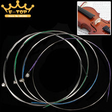 4 Pcs Professional H.I.H Violin E-1st / A-2nd / D-3rd / G-4th Strings Set for 4/4 -1/8Size