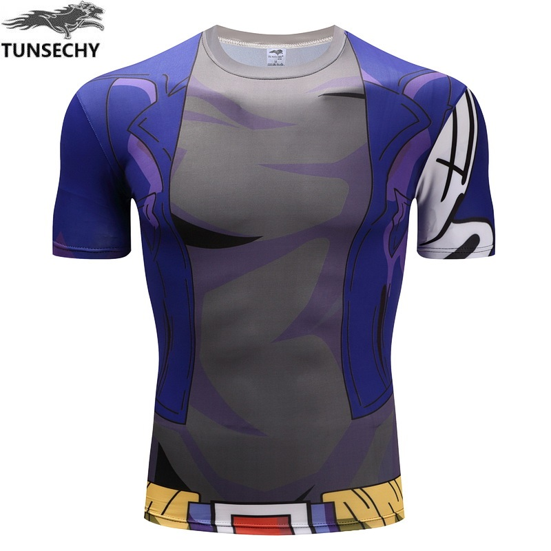 TUNSECHY Fashion Brand dragonball Round collar T-shirt the wu is empty Turtle fairy Vegeta Foley sand compressed T-shirt