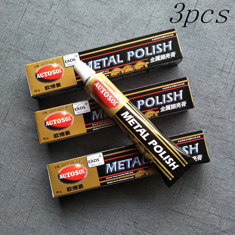 3 PCS AUTOSOL metal polishing paste scratch repair metal band grinding multifunction copper cream 50 g ...