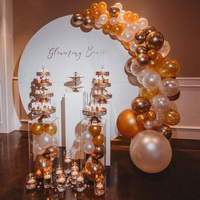 metal flower Round wedding Arch Party Decoration road leads Flower backdrop frame wedding background stand