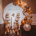 Flor de metal redonda casamento arco festa decoração estrada leva flor pano de fundo quadro casamento suporte