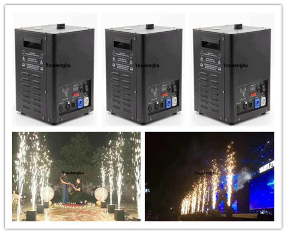 10 pieces New Design China 700w cold firework machine DMX and remote control cold flame spark Sparctic fireworks fountain