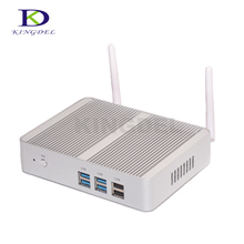 Безвентиляторный настольных ПК Intel Celeron N3150 Quad Core Dual LAN, 4 * USB 3.0 300 м WI-FI, 2 * HDMI, Оперативная память + SSD, Windows 10, linux pc