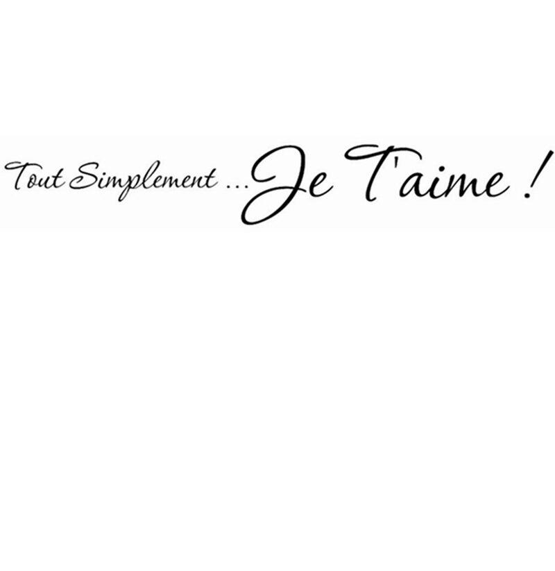 Envío Libre Francés Te Amo Vinilo Tatuajes De Pared La Decoración