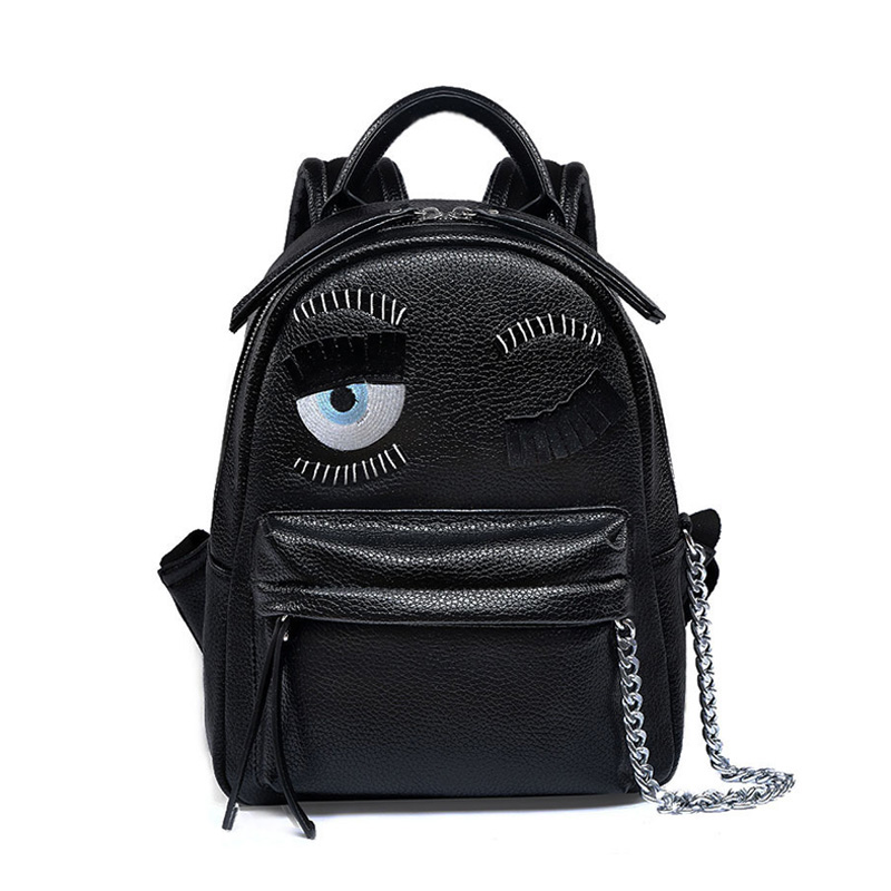 Black Designer Leather Backpack High Quality font b Women b font Bags 2017 Backpack Fashion Trend