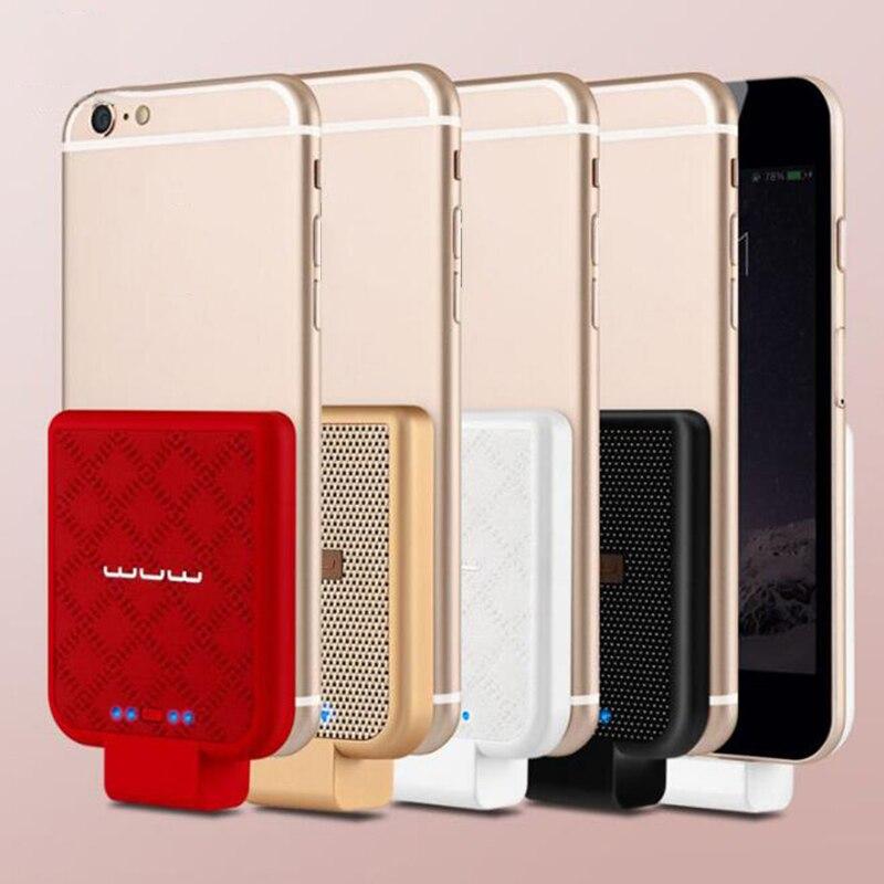 imágenes para Mini caso Del Cargador 2200 mAh para el iphone 5 5S 6 6 s Portátil carcasa trasera inalámbrica de Batería Externa para el iphone 6 plus/6 s más 7 7 plus
