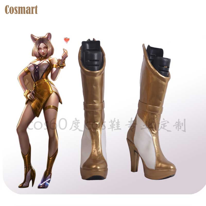 LOL KDA Ahri Cosplay Shoes K/DA Ahri High Heels Boots Shoes For Women 2019 Hot Game free shipping