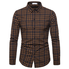 2019 Men Classic Plaid Casual Long Sleeved Shirts Slim Fit Male Social Business Dress Brand Clothing Soft Comfortable