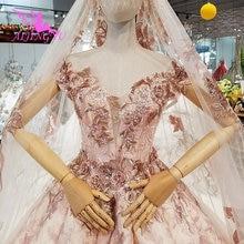 AIJINGYU segundo vestido de novia nuevo vestido azul marino Vintage encaje sencillo Vintage Civil más vestidos de novia de manga