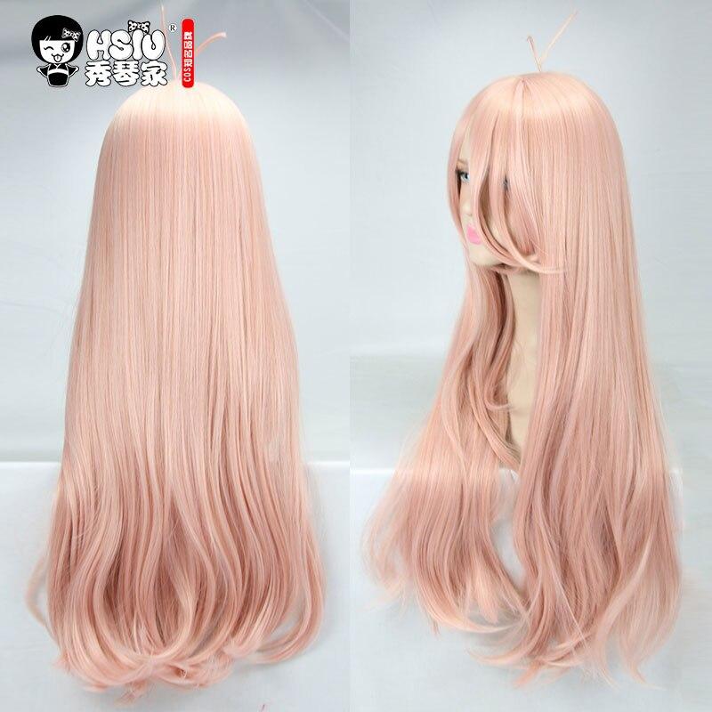 HSIU New Super DanganRonpa V3 Cosplay Wig Miu Iruma Costume Play Woman Adult Wigs Halloween Anime Game Hair free shipping