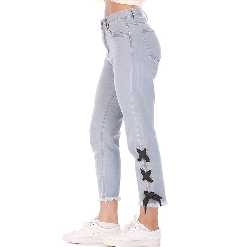 Free shipping 2019 New loose Straight Pants Vintage Mid Waist Jeans new womens pants full length pants loose cowboy pants
