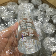OD20 x 1000 mm Akrilik Bubble Rod Clear (Extruded) Rod Plexiglass Clear Bubble Rod içərisində Bubbles