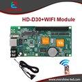 D30 HD-D30 RGB a todo color 256 escala de grises LED tarjeta controladora pantalla soporta WIFI, u-disco, red, 1024*64 píxeles