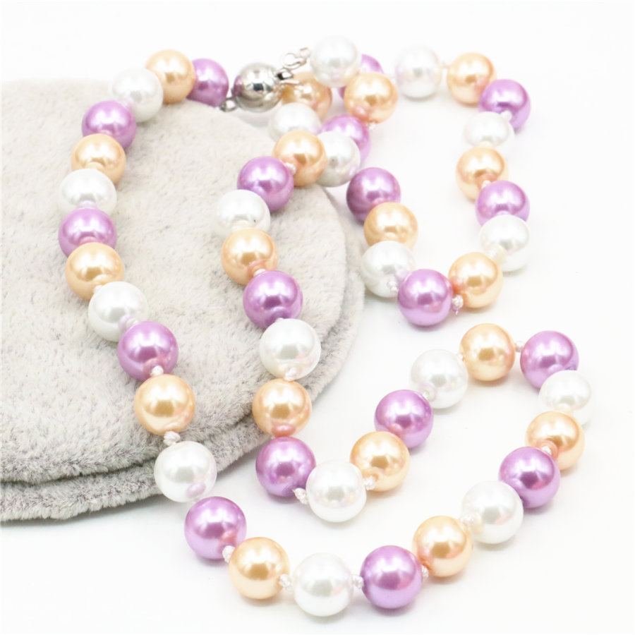 New Fashion Allmatch Girl 8mm Multicolor Akoya Pearl Necklace 18 Inch  Beads Jewelry Making