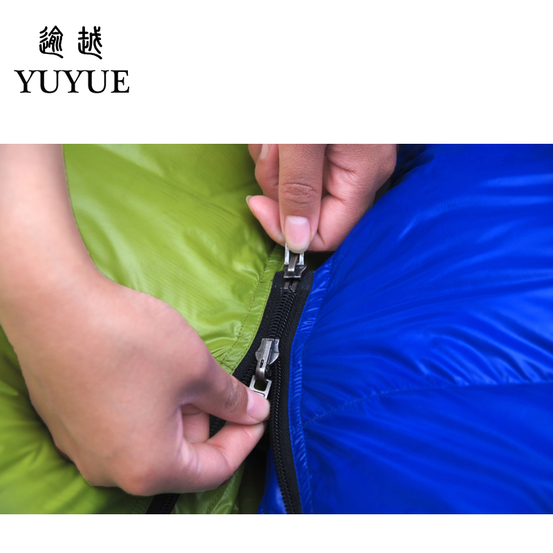 2000g Adult Mummy Sleeping Bag Down Winter For Camping Equipment Tent Waterproof Teaproof Nylon Sleeping Bags For Lovers Air Bed 4