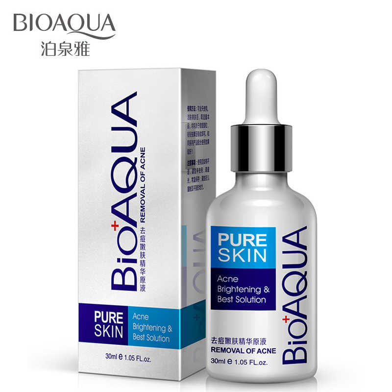 BIOAQUA Pure Skin Removal of Acne Essence Removal Blackhead Pimple Acne Moisturizing Brightening Oil-Control Maquiagem Serum