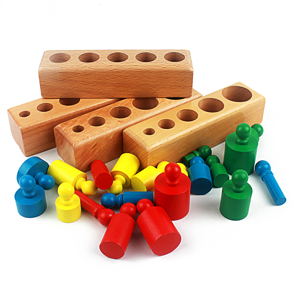 Montessori Educational Wooden Toys For Children Cylinder Educational Preschool Early Learning Toy Montessori Toy Yd2564h Home