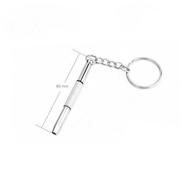 Moda 3 in1 óculos chave de fenda ferramentas manuais 3 in1 óculos chave de fenda sunglass assista kit reparo com chaveiro