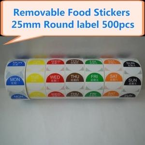 Image 3 - Étiquettes autocollantes amovibles, amovibles, 1x1 pouce, rouleau de 500, jour de la semaine (du lundi au dimanche), 7 rouleaux/ensemble