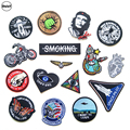 1 PCS Space Astronaut parches Embroidered Iron on Patches for Clothing DIY Stripes Air force Clothes Stickers Custom Badges @B