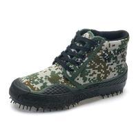 2016 Trendy Buty Bojowe Kamuflaż Wojskowy Tactical Canvas Buty Sprzedaż Zieleń wojskowa Zewnątrz Pracy buty Duży rozmiar 45 46X081903