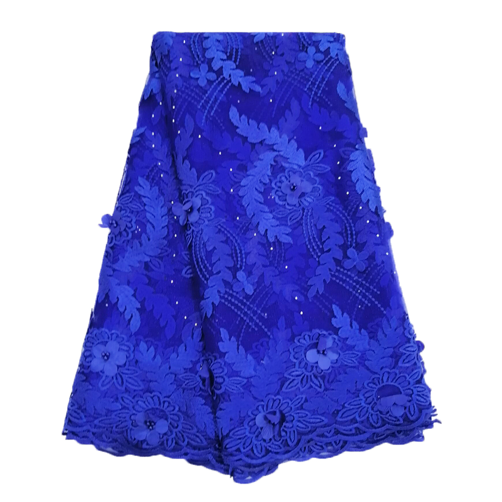 Royal Blue Lace Fabric 2019 High Quality Lace Nigerian Lace Fabric for Women Dress African Tulle Lace with Stones 5 yardsRoyal Blue Lace Fabric 2019 High Quality Lace Nigerian Lace Fabric for Women Dress African Tulle Lace with Stones 5 yards