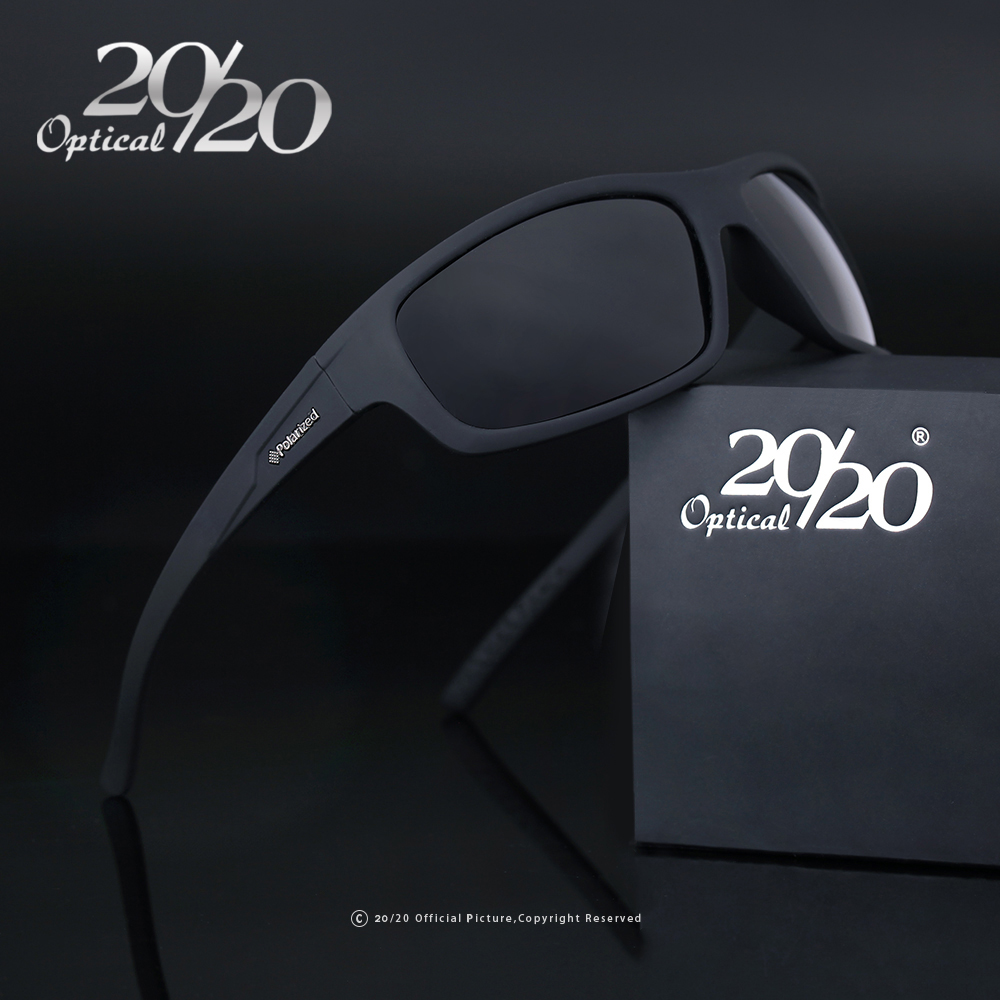 20/20 Optical Brand 2018 New Polarized Sunglasses Men Fashion Male Eyewear Sun Glasses Travel Oculos Gafas De Sol PL66 feidu мода steampunk goggles sunglasses women men brand designer ретро side visor sun round glasses women gafas oculos de sol