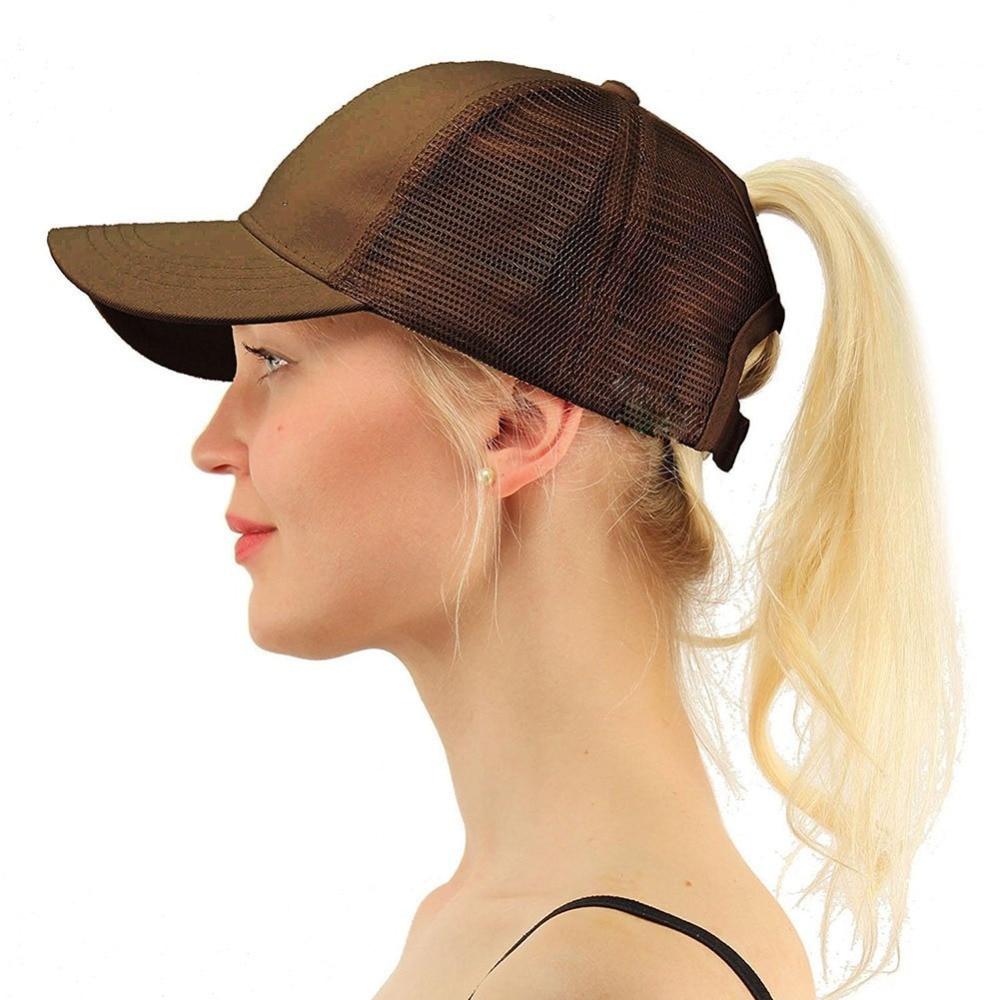 Competent Fashion 2018 Ponytail Baseball Cap Women Snapback Hat Summer Messy Bun Mesh Hats Casual Adjustable Baseball Caps Female W4 Men's Baseball Caps