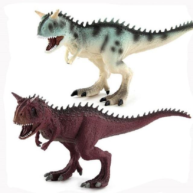 High simulation Jurassic Park Dinosaur Carnotaurus Model Toy Dinosaur Display Juguetes Children Early Education Animal Gift
