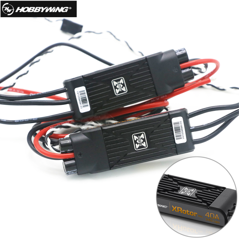 2pcs/Box Hobbywing XRotor Pro 40A ESC No BEC 3S-6S Lipo Brushless ESC DEO for RC Drone Multi-Axle Copter цена