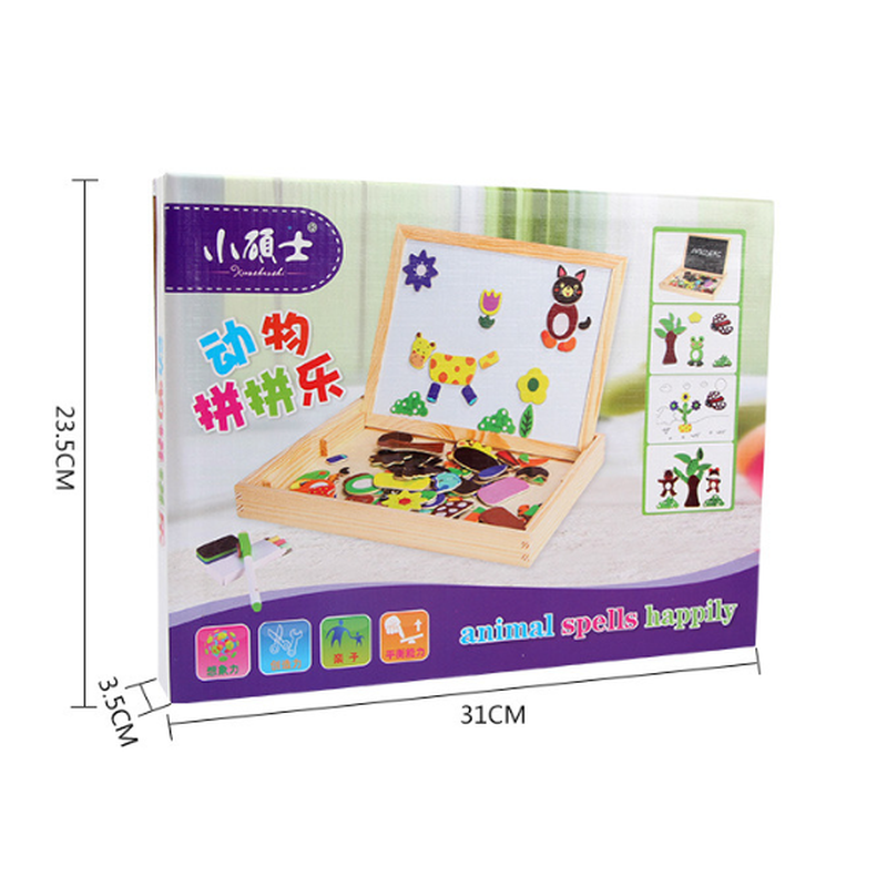 Puzzles Toys For Children Juguetes Wooden Toy 3d 3 Year Old Baby Educational Toys Kids Gift Grab Board Clapper Board Aliexpress