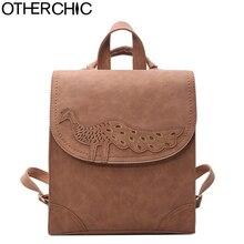 Otherchic новый дизайнер кожаный рюкзак модные женские туфли Рюкзаки для подростка Школьные ранцы черные Винтаж Женский рюкзак L-7N07-88