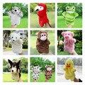 Animais Fantoche de Mão Do Bebê Brinquedos de Pelúcia Papagaio Águia Pato Lobo Boneca Brinquedo Do Bebê Brinquedo Fantoche Marionetes