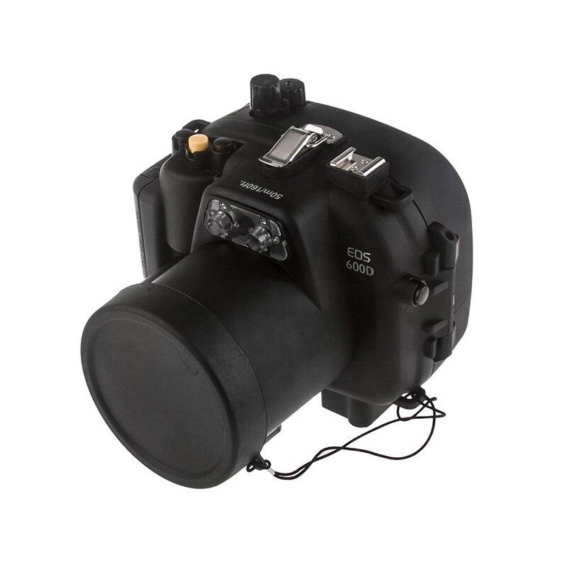 Sac de couvercle de boîtier de caméra sous-marine étanche 40 M 130FT pour appareil photo Canon 600D T3i + joint torique
