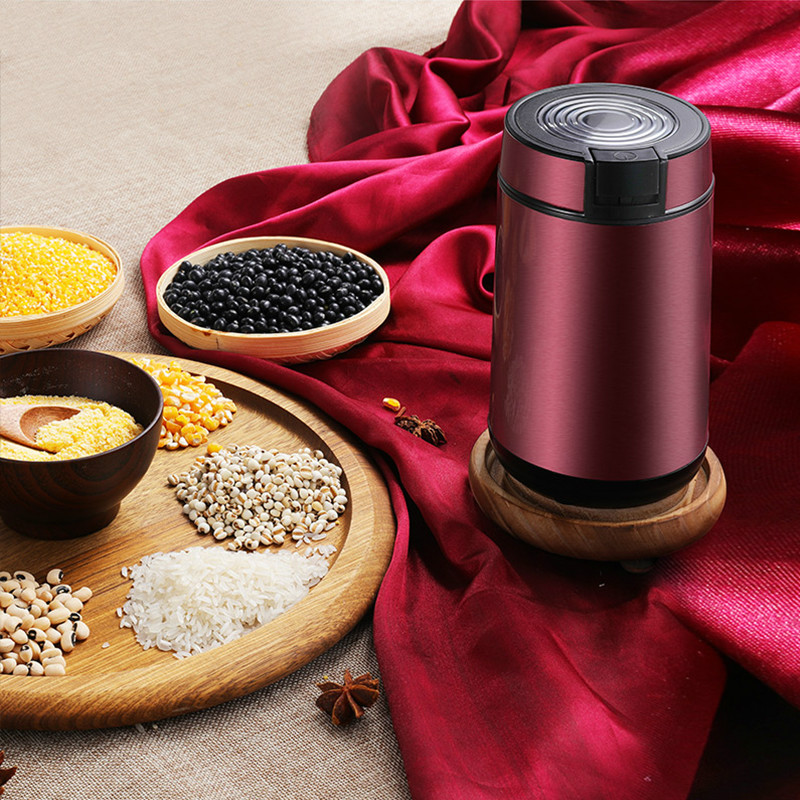 Coffee Grinders Flour mill small dry ground coffee bean powder machine household cereal grain sesame grinder pulverizer.NEW coffee grinders the household electric grinder mill small multi function pulverizer ultra fine dry grind