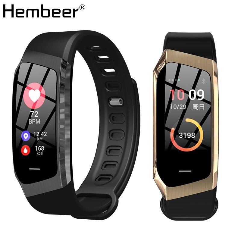 Hembeer XR18 Braccialetto Intelligente Accurato della Frequenza Cardiaca Monitor di Pressione Sanguigna Monitor Telaio In Lega di Banda Intelligente Passo Contatore pk Fitbits