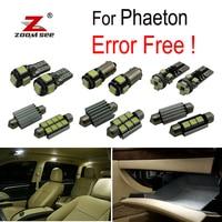 34pcs LED License plate lamp + Interior reading dome Lights bulb full Kit for Volkswagen Accessories for Phaeton (2003 2013)