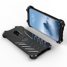 Shockproof Metal Case For Meizu 16th Plus 16 X Hard Cover Heat Dissipation Aluminum Alloy Shell Sports Superhero+Straps+Stand