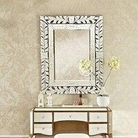 Современный настенный стеклянный зеркальный Венецианский настенный декоративный зеркальный арт прямоугольник венецианское зеркало туал